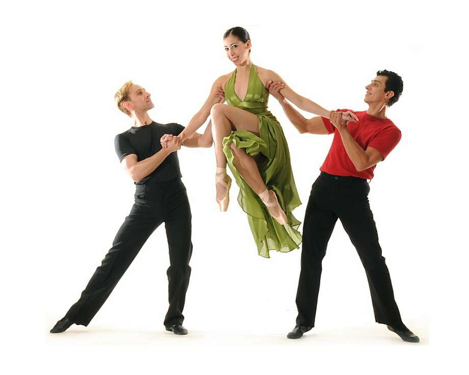 "Vaption: Edward Stegge, Rosselyn Ramirerz and David Fonnegra In ""A Swingin' Holiday,"" that will be performed at Diablo Ballet Photo by Ashraf Photo: Ashraf, Diablo Ballet"