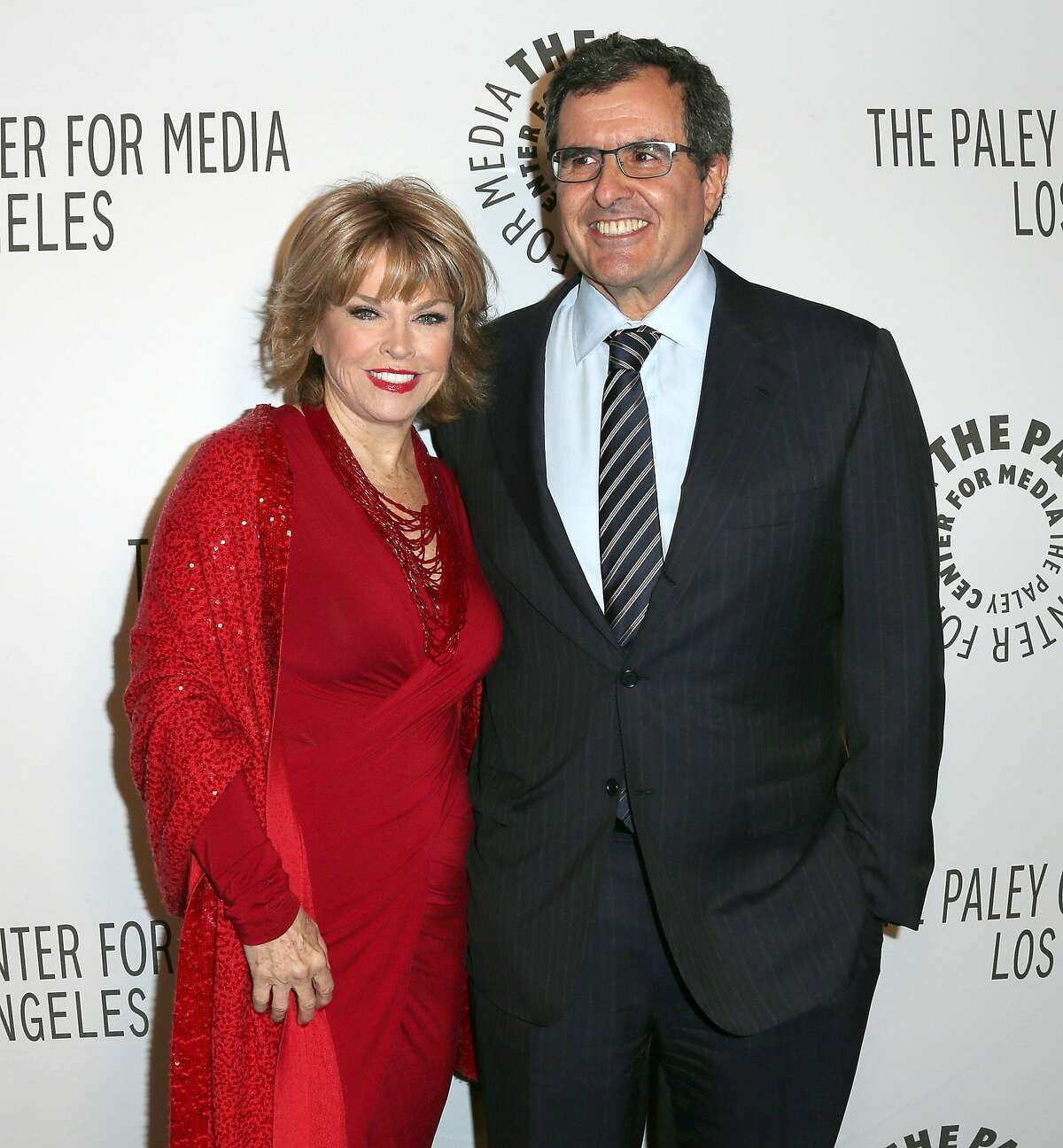 WEST HOLLYWOOD, CA - OCTOBER 22: Pat Mithcell, (L) President/CEO, The Paley Center for Media, and Peter Chernin, Chairman/CEO, The Chernin Group attend The Paley Center for Media's Annual Los Angeles Benefit at The Rooftop Of The Lot on October 22, 2012 in West Hollywood, California. (Photo by Frederick M. Brown/Getty Images)