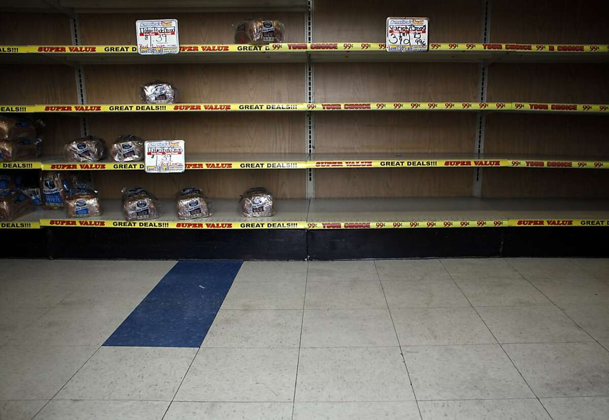 Shelves were nearly empty at the San Leandro outlet after Hostess said it was shutting down.