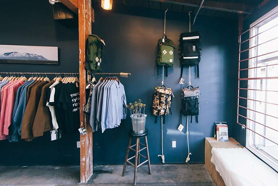 Temescal Alley's Standard & Strange carries U.S.-made menswear, including the owners' Cedar Cycling biking apparel. Photo: Standard & Strange