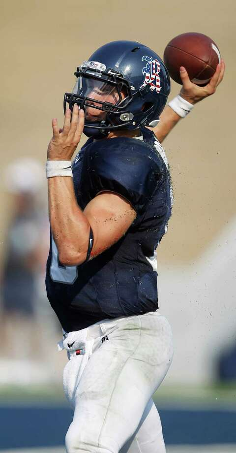 Rice QB Taylor McHargue (16) drops back to throw the ball during the third quarter of a college football game at Rice University, Saturday, Sept. 10, 2011, in Houston. Rice won the game against Purdue 24-22.   ( Karen Warren / Houston Chronicle ) Photo: Karen Warren, Staff / © 2011 Houston Chronicle