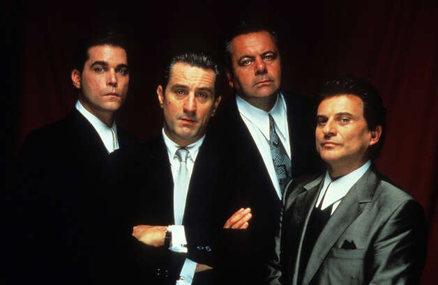 "In 1990, Scorsese directed mob hit ""Goodfellas,"" featuring (from left): Ray Liotta, Robert De Niro, Paul Sorvino and Joe Pesci. Photo: Archive Photos, Getty Images / 2012 Getty Images"