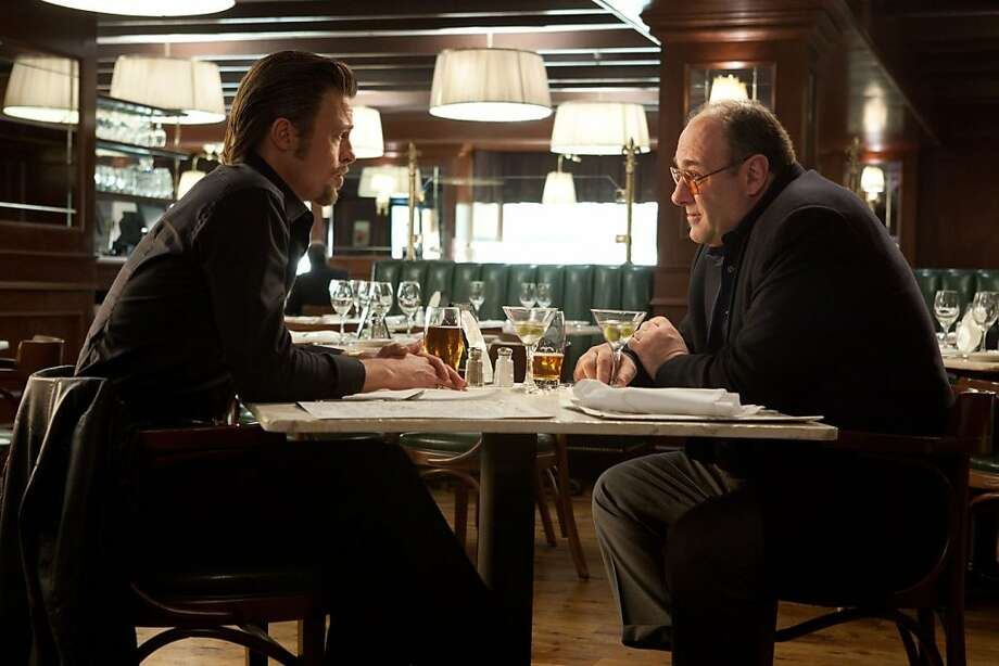 "Brad Pitt and James Gandolfini star in the mob revenge movie ""Killing Them Softly,"" opening Friday at Bay Area theaters. Photo: Weinstein Co."