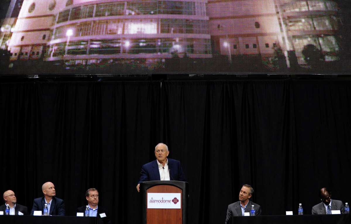 Nolan Ryan, president and CEO of the Texas Rangers baseball team, speaks during a press conference on Friday, Nov. 16, 2012, to announce