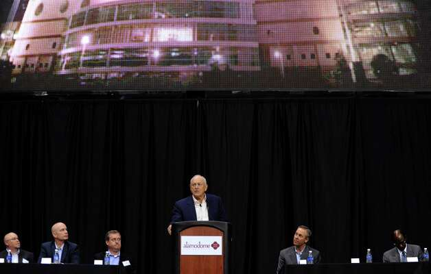 "Nolan Ryan, president and CEO of the Texas Rangers baseball team, speaks during a press conference on Friday, Nov. 16, 2012, to announce ""Big League Weekend,"" a two-game set between the Texas Rangers and the San Diego Padres to be played in the Alamodome on March 29-30, 2013. Photo: Billy Calzada, Express-News / © 2012 San Antonio Express-News"