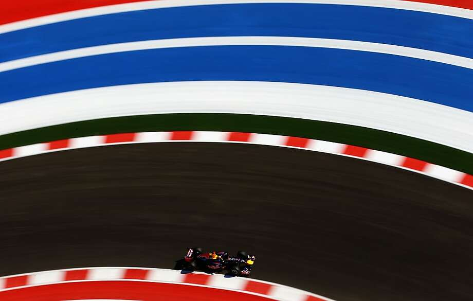 Sebastian Vettel of Germany and Red Bull Racing drives during practice for the United States Formula One Grand Prix at the Circuit of the Americas on November 16, 2012 in Austin, Texas. Photo: Paul Gilham, Getty Images