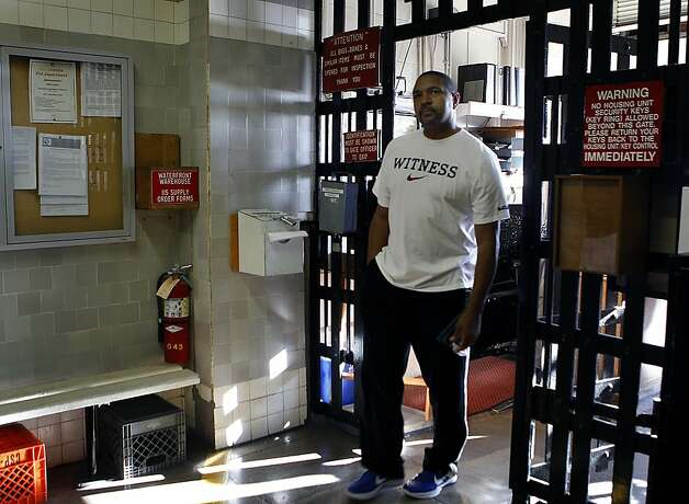 Golden State Warriors head coach Mark Jackson enters the sally port to gain access to San Quentin State Prison to play a basketball game against inmates on the San Quentin Warriors on Saturday, Sept. 22, 2012. Photo: Paul Chinn, The Chronicle