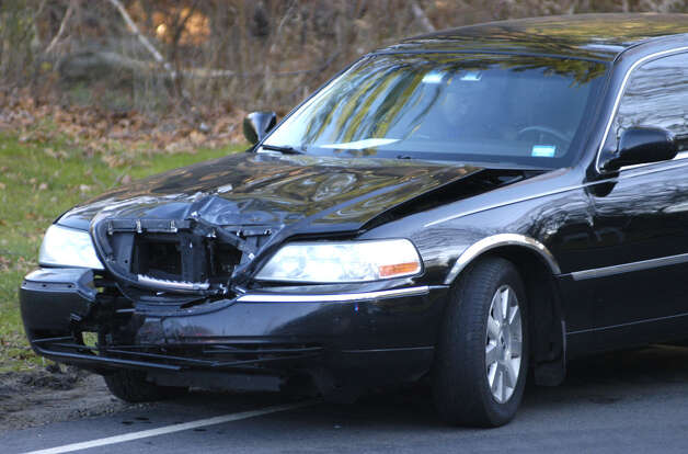 This car collided with a motorcycle Saturday about 1:45 p.m. at the intersection of routes 47 and 199  in Washington . Nov. 17, 2012 Photo: Norm Cummings