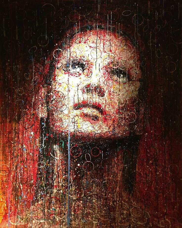 "John Waguespack's ""Pause"" is an acrylic and oil on canvas portrait of model Kate Moss. Photo: Courtesy Of The Artist"
