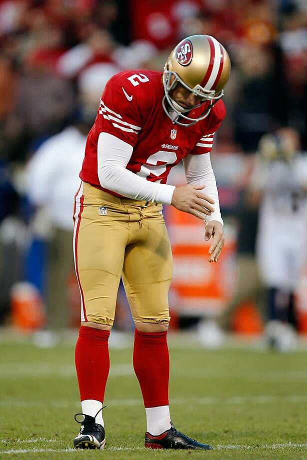 David Akers was not happy after missing a field-goal try in overtime against the Rams. Photo: Brian Bahr, Getty Images