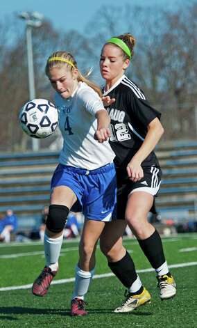 Avon high school vs. Pomperaug high school in a CIAC class L girls soccer tournament game played at West Haven high school, West Haven, CT on Saturday November 17th, 2012. Photo: Mark Conrad / Connecticut Post Freelance