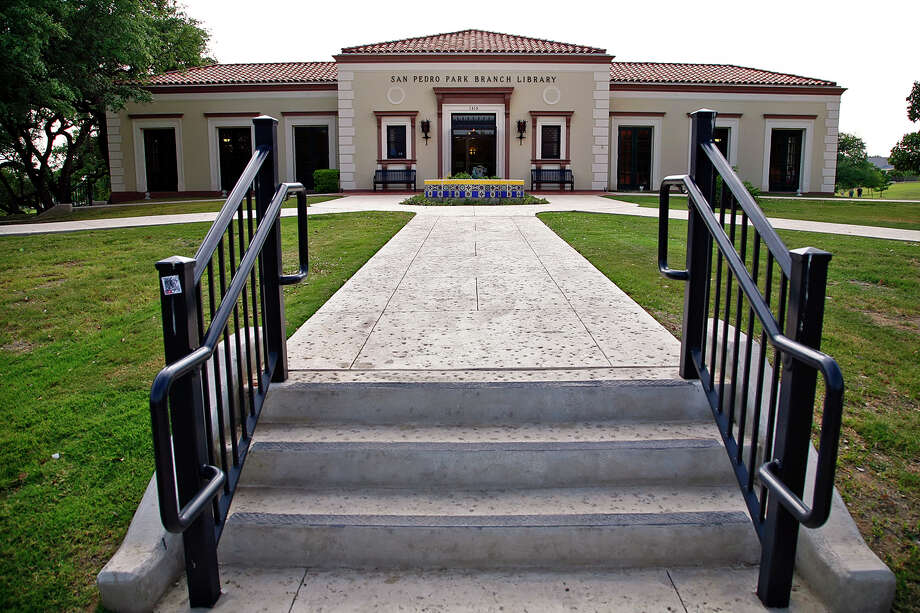 The San Pedro Park Branch Library is San Antonio's oldest branch library. It is one of 10 buildings recognized by the San Antonio Conservation Society for outstanding restoration. The building was designed by Atlee and Robert Ayres. Shot Wednesday, April 23, 2008. Photo: NICOLE FRUGE, EXPRESS-NEWS FILE PHOTO / SAN ANTONIO EXPRESS-NEWS