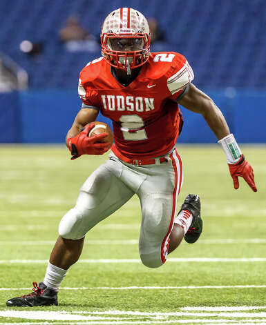 Judson's Jarveon Williams picks up yardage during their Class 5A Division II first round game with Churchill at the Alamodome on Nov 17, 2012.  Judson advanced to the second round with a 34-20 victory over the Chargers.  MARVIN PFEIFFER/ mpfeiffer@express-news.net Photo: MARVIN PFEIFFER, Express-News / Express-News 2012
