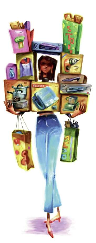 Tim Lee illustration of hopper loaded down with products. Can be used with stories about holiday shoppers. The News & Observer (Raleigh, N.C.) Photo: Lee / The News & Observer (Raleigh, N.C.)