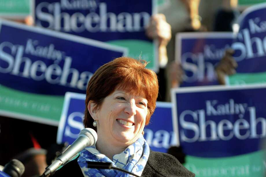 Kathy Sheehan, Albany city treasurer, receives cheers from supporters when she announces she'll run for mayor during a news conference on Saturday, Nov. 17, 2012, at Washington Park in Albany, N.Y. (Cindy Schultz / Times Union) Photo: Cindy Schultz / 00020129A
