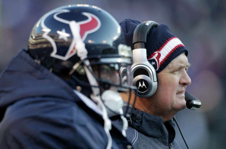 Wade Phillips likes what he sees when he sizes up his 2012 defense. Photo: Brett Coomer, Staff / © 2012  Houston Chronicle