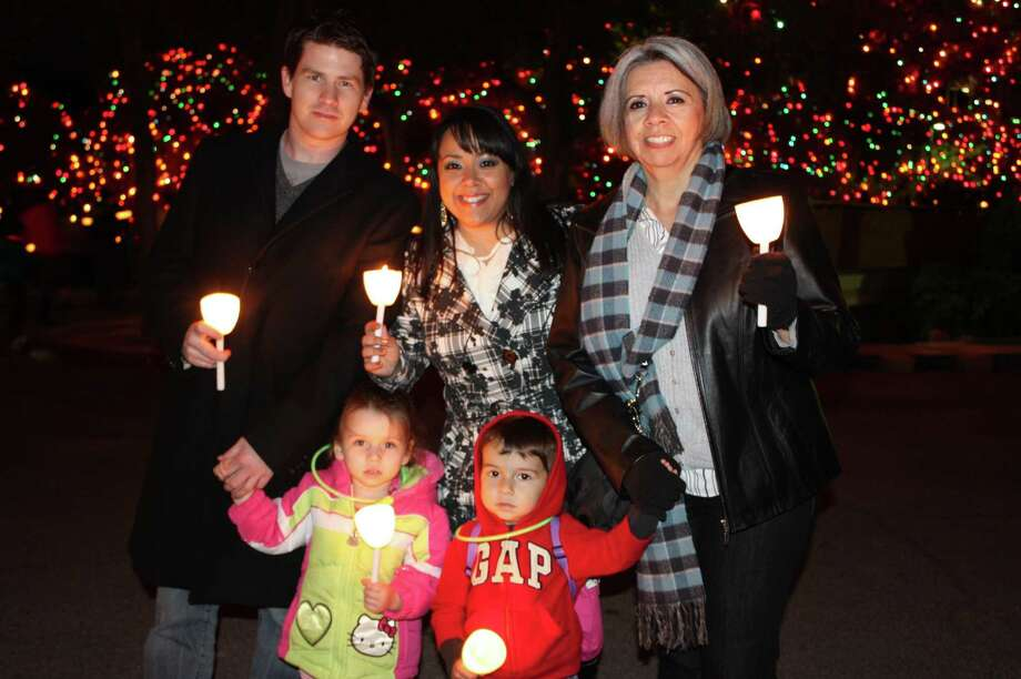 Light the Way at the University of the Incarnate Word kicked off the holiday season Saturday, Nov. 17, 2012. The event started in Benson Stadium and concluded with the switching on of more than a million white lights. Tejano singer Patsy Torres and jazz crooner Ken Slavin performed, and toys were collected for Elf Louise. Photo: Yvonne Zamora/Express-News