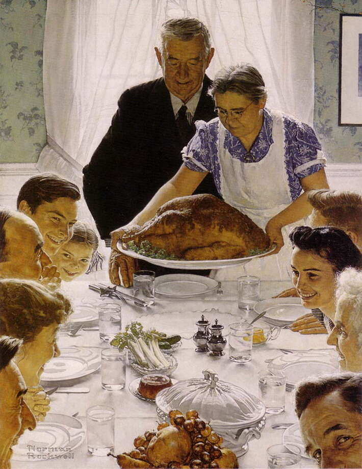 From the U.S. Census Bureau comes this, Thanksgiving by the numbers. (Norman Rockwell)