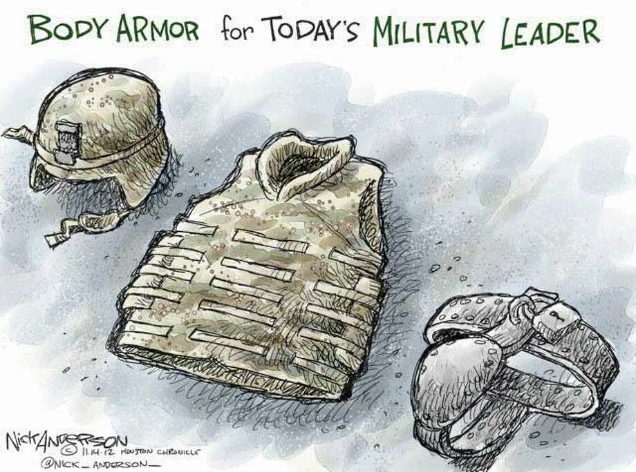 Body Armor (Nick Anderson / Houston Chronicle)