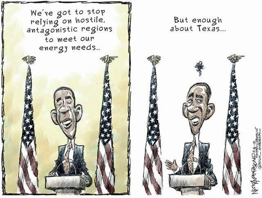 Energy independence  (Nick Anderson / Houston Chronicle)