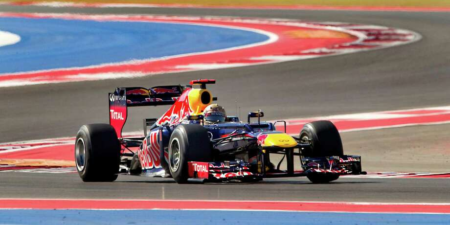Red Bull Racing driver Sebastian Vettel qualified for the pole position with the best time of 1:35.657 during the qualifying session of Formula 1 United States Grand Prix held at the Circuit of the Americas in Austin, Texas, on Saturday, November 17, 2012. (Rondolfo Gonzalez/Austin American-Statesman/MCT) Photo: Rudy Gonzalez, McClatchy-Tribune News Service / Austin American-Statesman