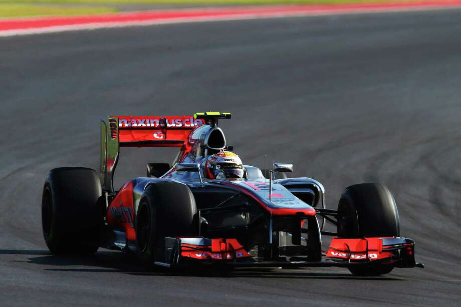 AUSTIN, TX - NOVEMBER 18:  Lewis Hamilton of Great Britain and McLaren drives during the United States Formula One Grand Prix at the Circuit of the Americas on November 18, 2012 in Austin, Texas. Photo: Clive Mason, Getty Images / 2012 Getty Images