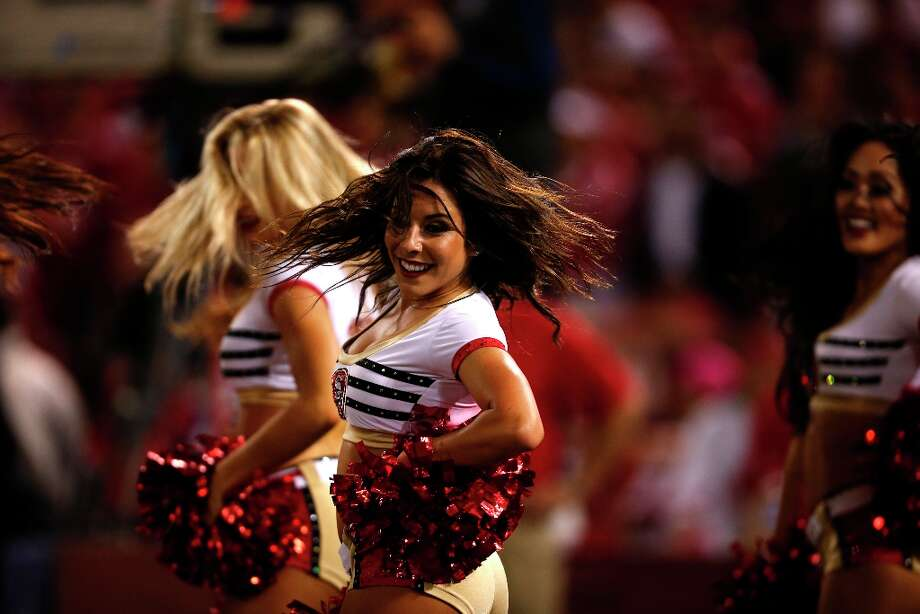 The San Francisco Gold Rush Cheerleaders. The San Francisco 49ers play the Seattle Seahawks at Candlestick Park in San Francisco, Calif., on Thursday October 18, 2012. Photo: Stephen Lam, Special To The Chronicle / ONLINE_YES
