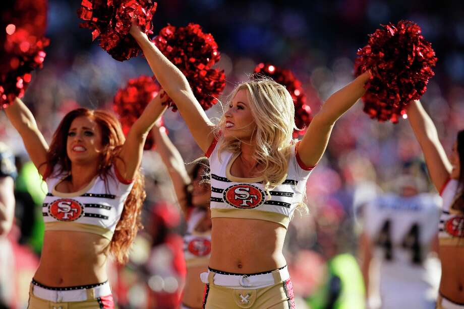 San Francisco 49ers cheerleaders perform during the second quarter of an NFL football game against the St. Louis Rams in San Francisco, Sunday, Nov. 11, 2012. Photo: Jeff Chiu, Associated Press / AP