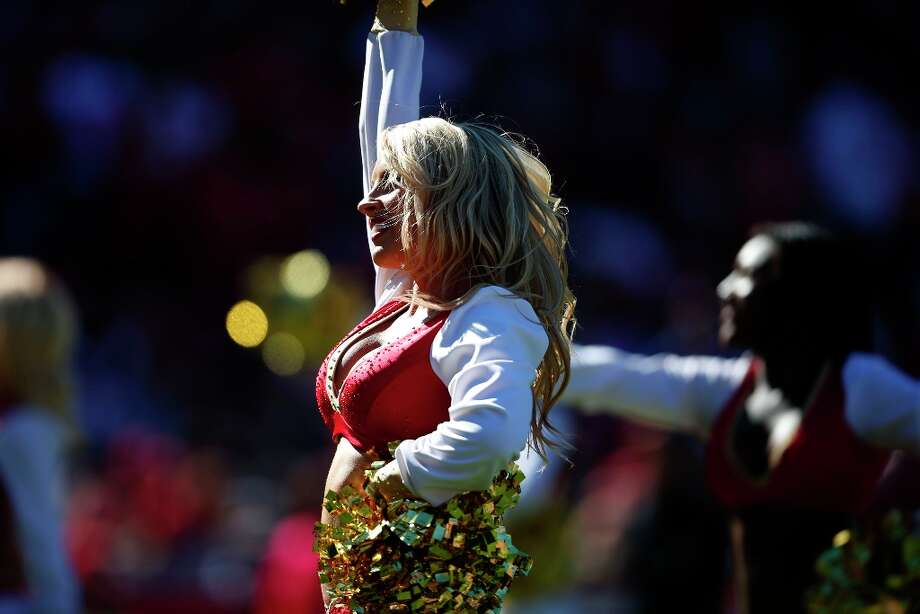 San Francisco 49ers Gold Rush Cheerleaders. The San Francisco 49ers play the New York Giants at Candlestick Park in San Francisco, Calif., on Sunday October 14, 2012. Photo: Stephen Lam, Special To The Chronicle / ONLINE_YES