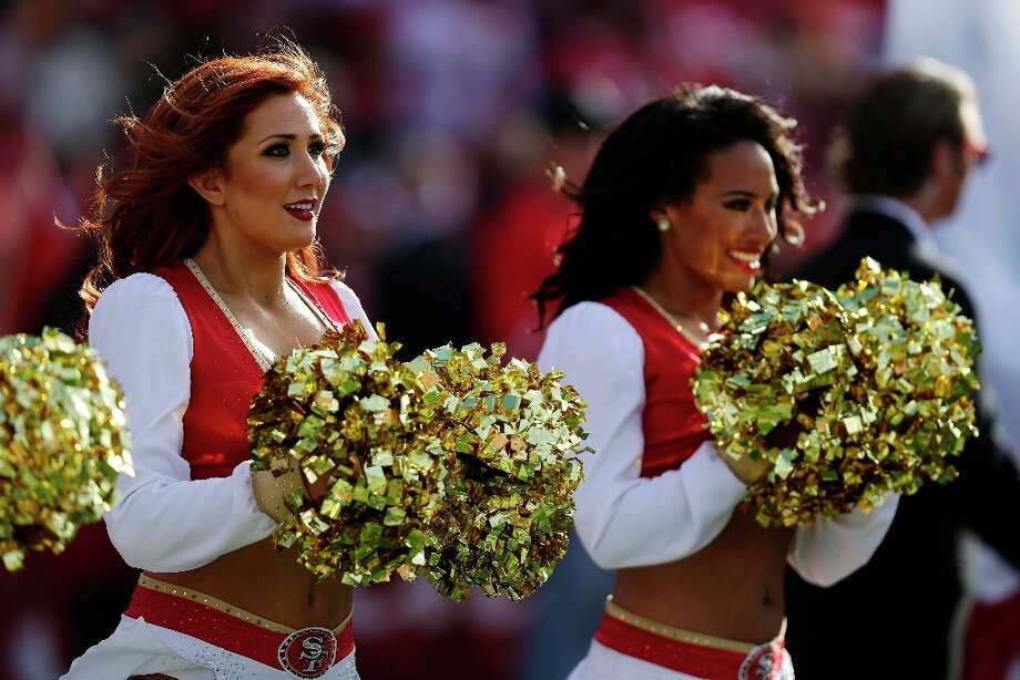 San Francisco 49ers cheerleader during the first quarter of the 49ers' contest against the Lions on Sunday, Sept. 16, 2012. Photo: Marcio Jose Sanchez, Associated Press / AP