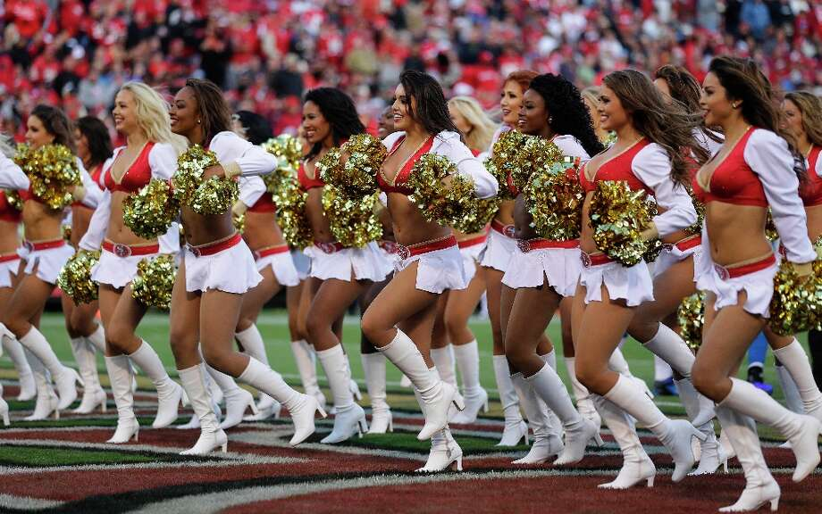 San Francisco 49ers cheerleaders during the second quarter of an NFL football game against the Detroit Lions in San Francisco, Sunday, Sept. 16, 2012. Photo: Marcio Jose Sanchez, Associated Press / AP