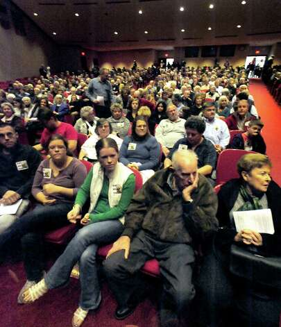 "A large crowd attends a showing of Scott Sniffins' film ""Home of the Brave"" in Southbury Sunday, Nov. 18, 2012. The event marks the 75th anniversary of residents saying no to a Nazi training camp in town. Photo: Michael Duffy"