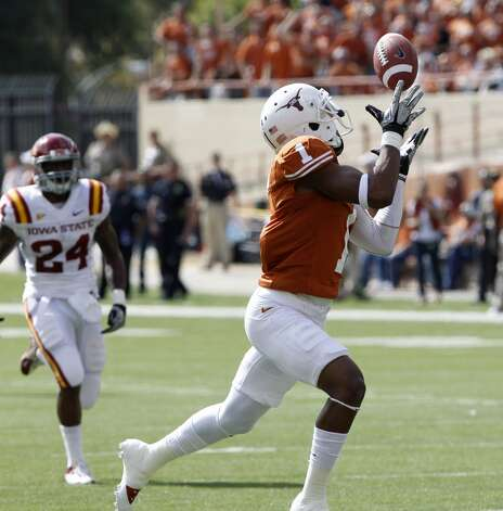 2. Texas (8-2, next game Thursday vs. TCU) — The Longhorns could end up as the biggest Big 12 benefactors from Saturday's shakeup if they can win out and get some help from Oklahoma State against Oklahoma.  (Michael Thomas / Associated Press)