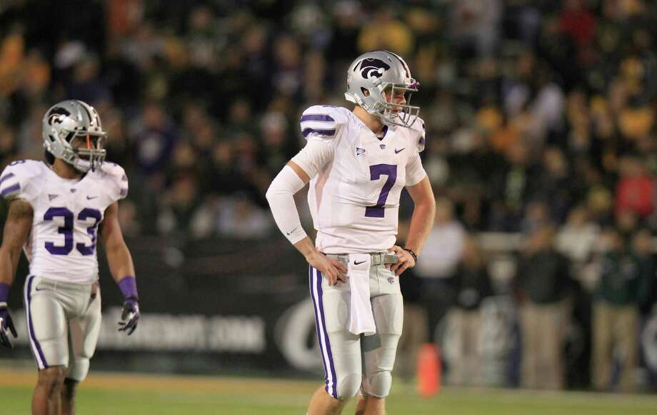 Kansas State quarterback Collin Klein (7) during the second half of the NCAA college football game against Baylor Saturday, Nov. 17, 2012, in Waco Texas. Baylor won 52-24.   (AP Photo/LM Otero) Photo: LM Otero, Wires / AP