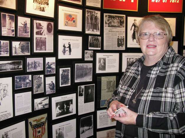 Nancy Wilt is the curator of the Women of the Corps exhibit now on display at the Schreiner Mansion Museum in Kerrville. The free exhibit opened Nov. 9 and runs through Dec. 8 Ê Photo: San Antonio Express-News