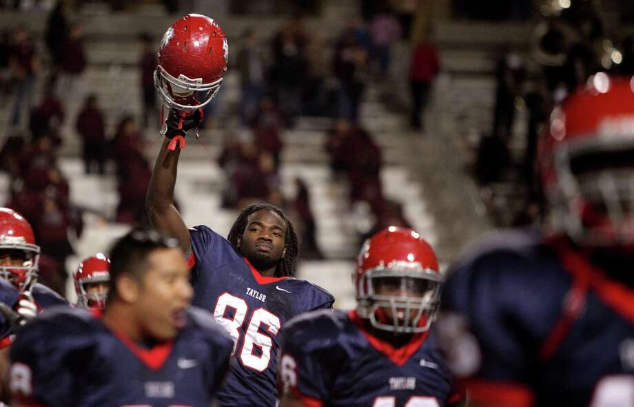 Alief Taylor defensive lineman Torrodney Prevot Photo: Mayra Beltran, Staff / © 2012 Houston Chronicle