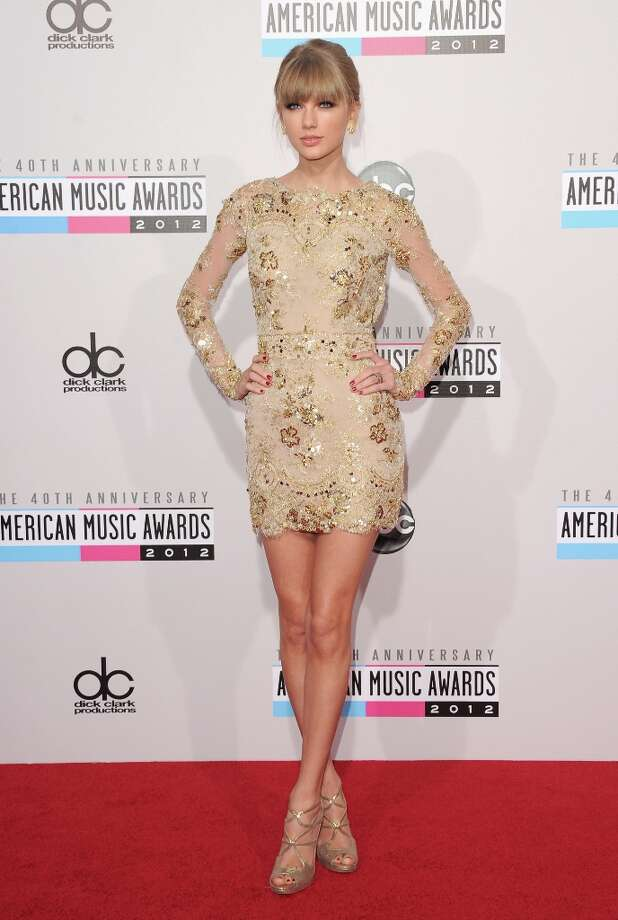 Singer Taylor Swift attends the 40th American Music Awards held at Nokia Theatre L.A. Live on November 18, 2012 in Los Angeles, California.  (Photo by Jason Merritt/Getty Images) Photo: Jason Merritt, Getty Images / 2012 Getty Images