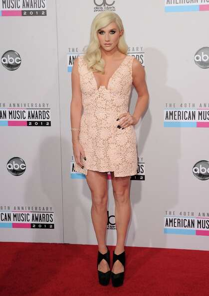 Singer Kesha attends the 40th American Music Awards held at Nokia Theatre L.A. Live on November 18,