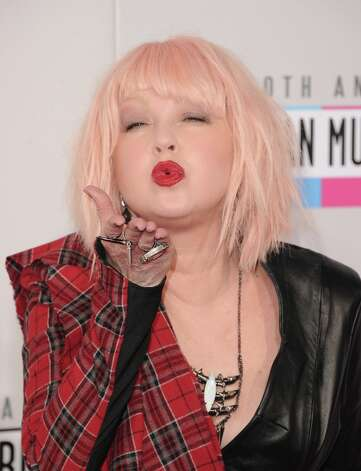 Singer Cyndi Lauper attends the 40th American Music Awards held at Nokia Theatre L.A. Live on November 18, 2012 in Los Angeles, California.  (Photo by Jason Merritt/Getty Images) Photo: Jason Merritt, Getty Images / 2012 Getty Images