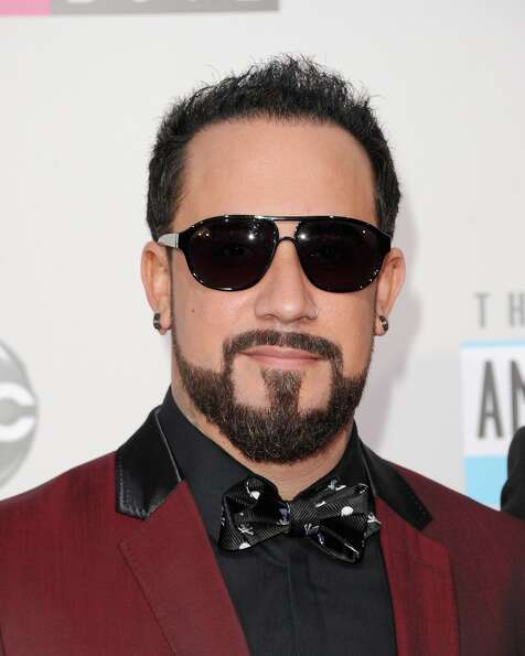 Singer A.J. McLean of Backstreet Boys poses in the press room at the 40th American Music Awards held