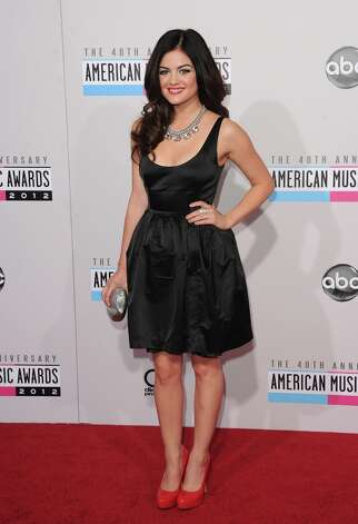 Actress Lucy Hale attends the 40th American Music Awards held at Nokia Theatre L.A. Live on November 18, 2012 in Los Angeles, California.  (Photo by Jason Merritt/Getty Images) Photo: Jason Merritt, Getty Images / 2012 Getty Images