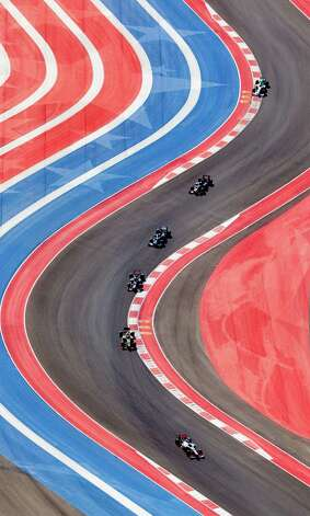 The Circuit of the Americas racetrack is seen Sunday Nov. 18, 2012 in an aerial image taken during the track's inaugural Formula 1 Grand Prix. Photo: William Luther, Express-News / © 2012 San Antonio Express-News