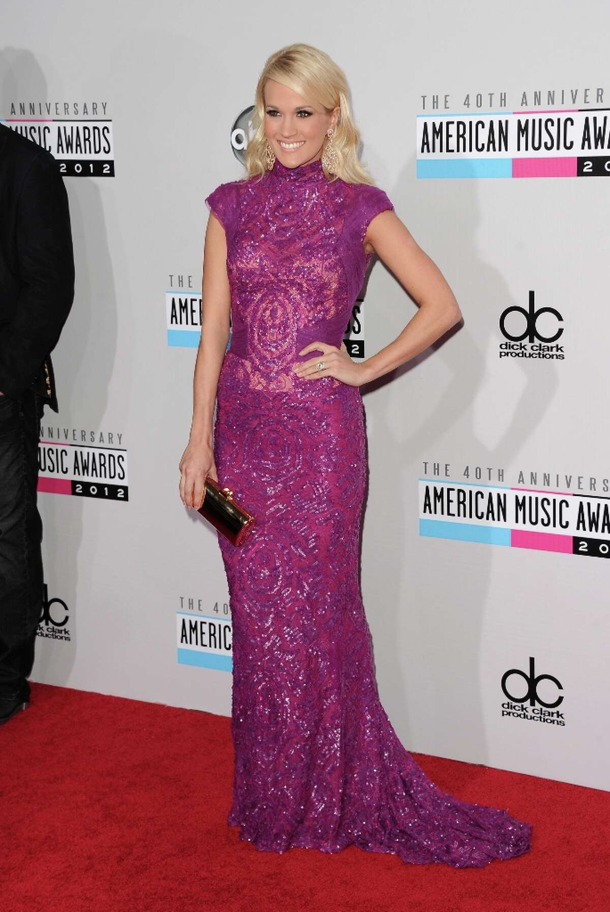 Singer Carrie Underwood attends the 40th American Music Awards held at Nokia Theatre L.A. Live on November 18, 2012 in Los Angeles, California. (Photo by Jason Merritt/Getty Images)