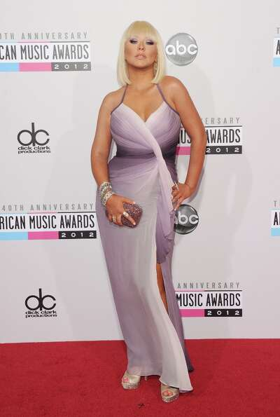 Singer Christina Aguilera attends the 40th American Music Awards held at Nokia Theatre L.A. Live on