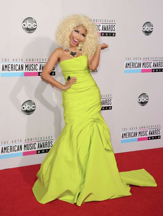 Singer Nicki Minaj attends the 40th American Music Awards held at Nokia Theatre L.A. Live on November 18, 2012 in Los Angeles, California.  (Photo by Jason Merritt/Getty Images) Photo: Jason Merritt, Getty Images / 2012 Getty Images