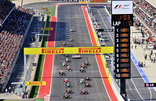 The start of the United States Grand Prix Sunday at the Circuit of the America's in Austin. Photo: Express-News