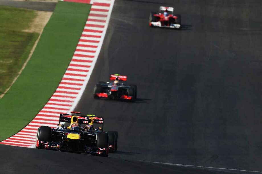 Sebastian Vettel of Germany and Red Bull Racing drives during the United States Formula One Grand Prix at the Circuit of the Americas on November 18, 2012 in Austin, Texas. Photo: Mark Thompson, Getty Images / 2012 Getty Images