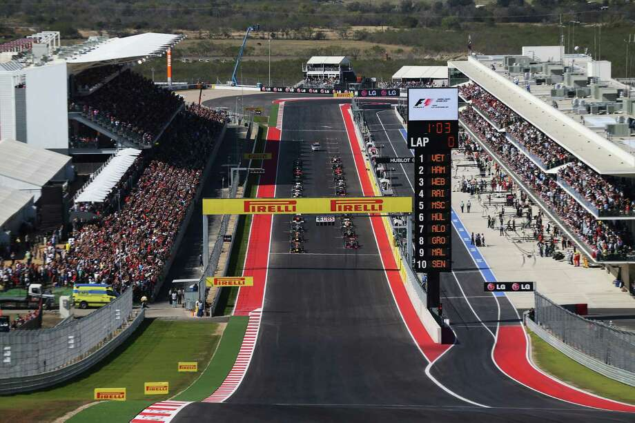 The field line up for the start of the United States Formula One Grand Prix at the Circuit of the Americas on November 18, 2012 in Austin, Texas. Photo: Mark Thompson, Getty Images / 2012 Getty Images