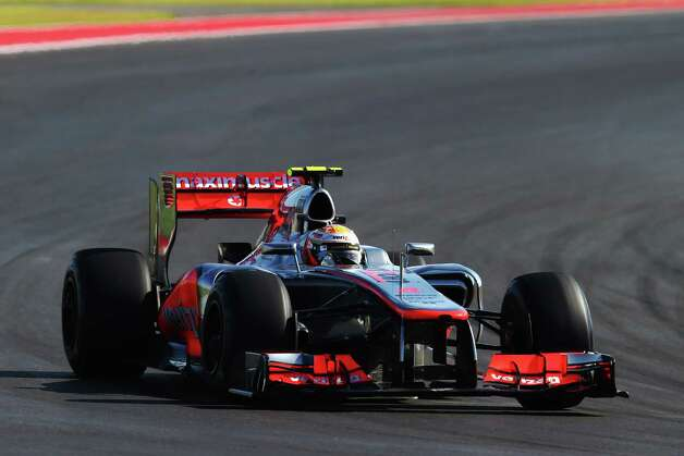 Lewis Hamilton of Great Britain and McLaren drives during the United States Formula One Grand Prix at the Circuit of the Americas on November 18, 2012 in Austin, Texas. Photo: Clive Mason, Getty Images / 2012 Getty Images