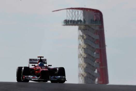 Fernando Alonso of Spain and Ferrari drives during the United States Formula One Grand Prix at the Circuit of the Americas on November 18, 2012 in Austin, Texas. Photo: Mark Thompson, Getty Images / 2012 Getty Images